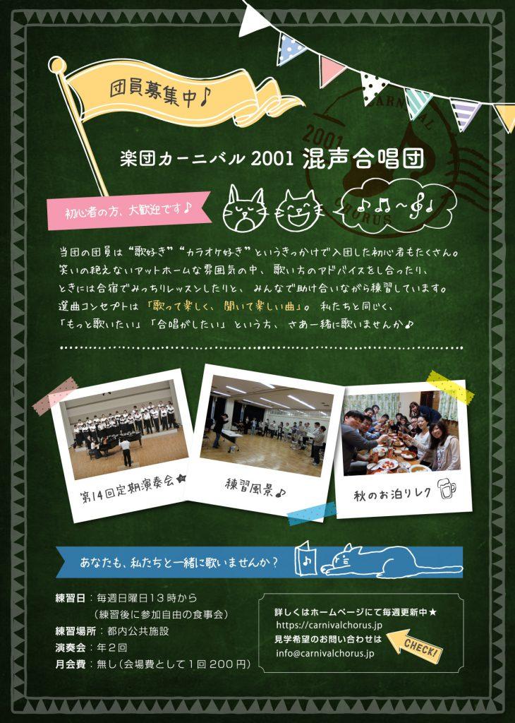 楽団カーニバル2001混声合唱団第15回定期演奏会-裏