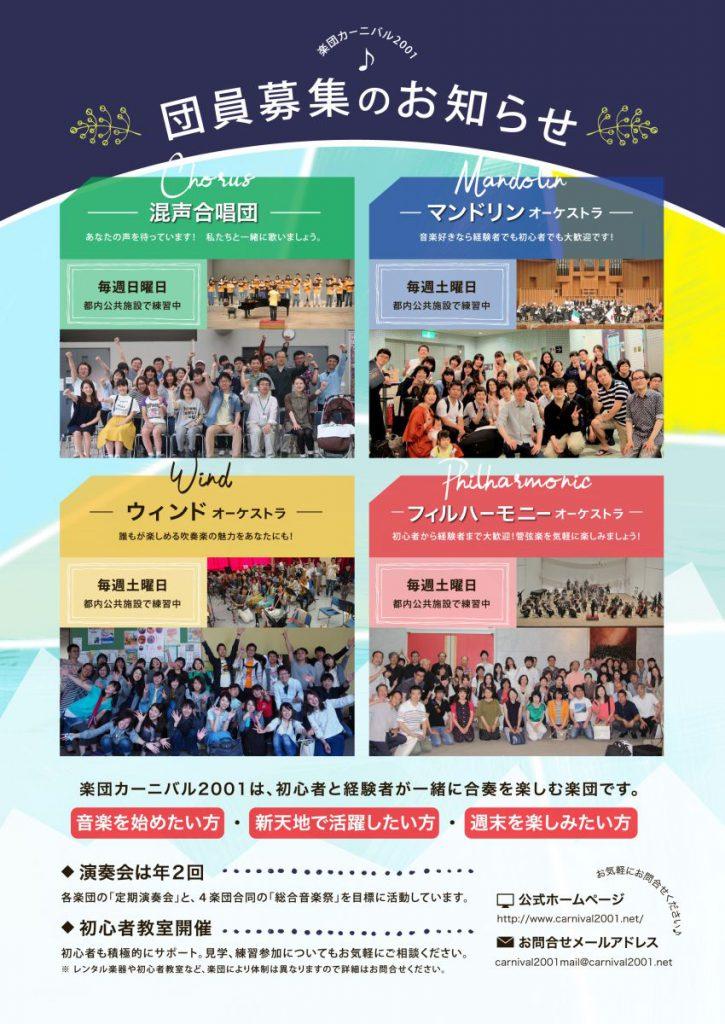 楽団カーニバル2001第16回総合音楽祭-裏